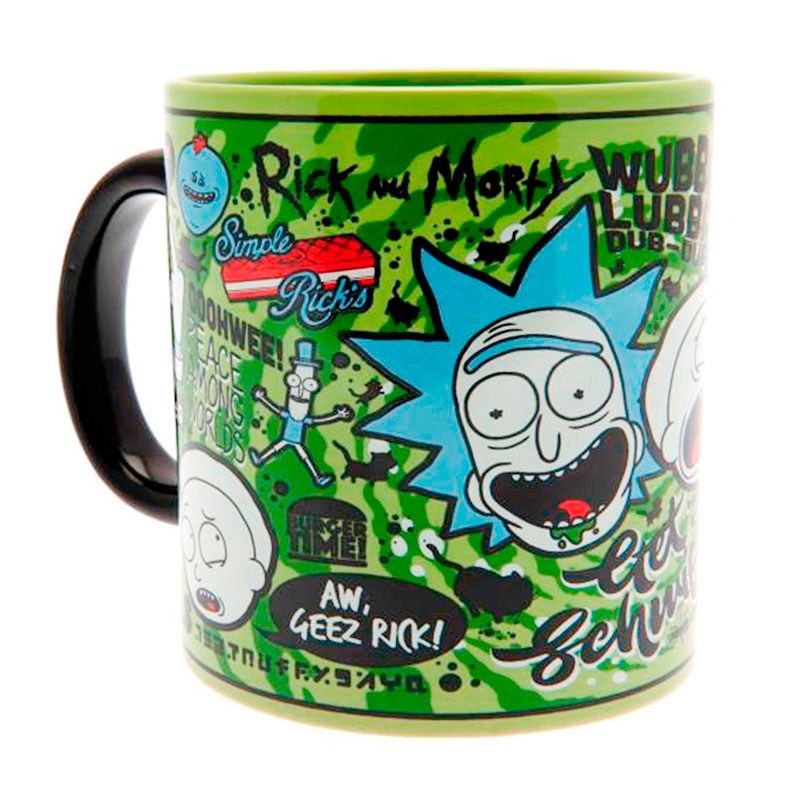 Taza Mega Mug Rick y Morty Quotes