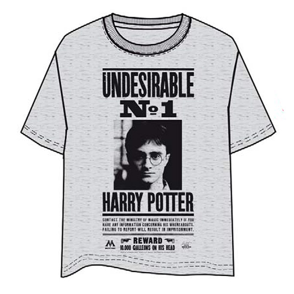 Camiseta Gris Harry Potter Undesirable