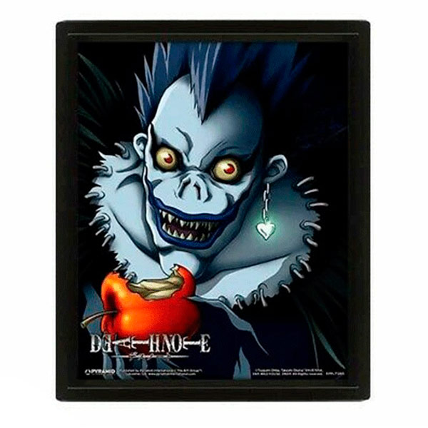 Póster 3D Death Note Light/Ryuk