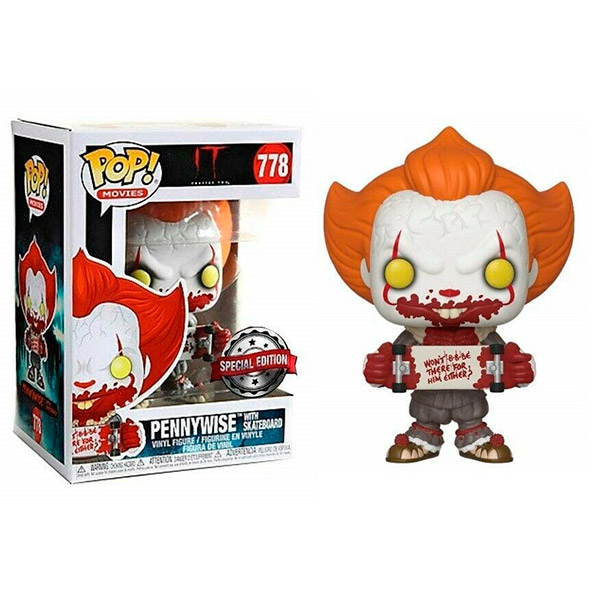 Pop Pennywise With Skateboard 778 Exclusivo