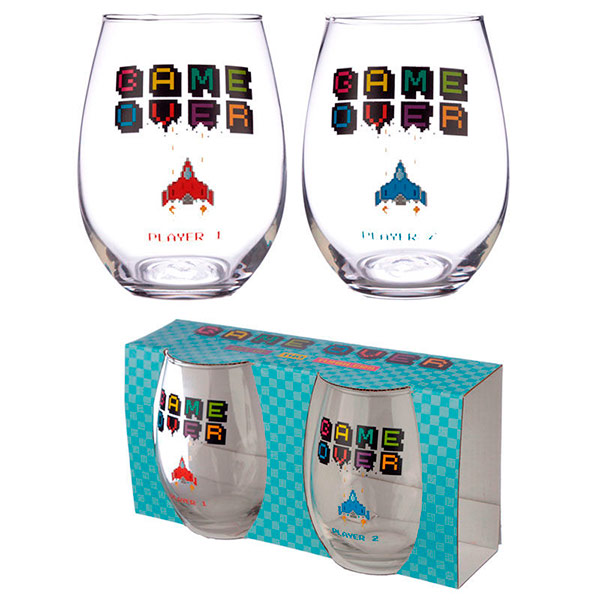 Set 2 Vasos Cristal Game Over
