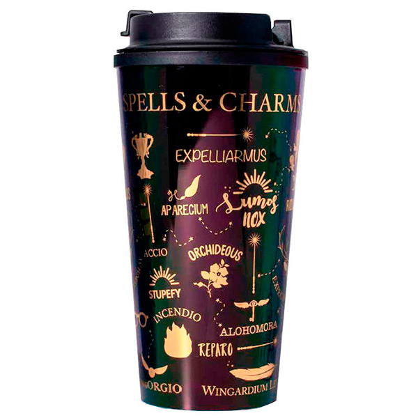 Taza de viaje Harry Potter Spells and Charms