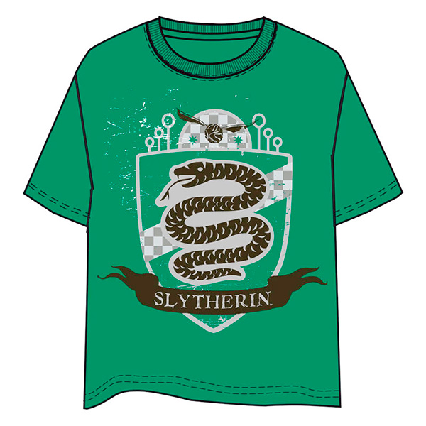 Camiseta Niño Harry Potter Slytherin Verde