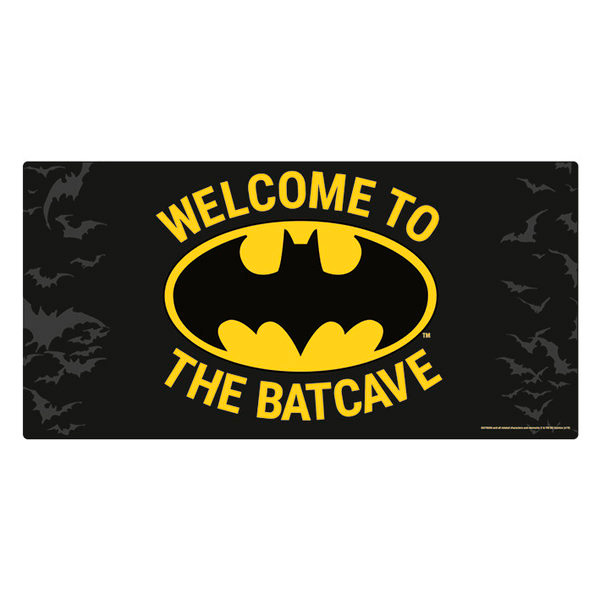 Placa Metálica Batman-Welcome to the Batcave