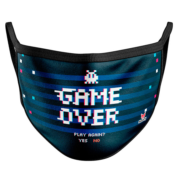 Mascarilla Game Over Adulto - Talla L