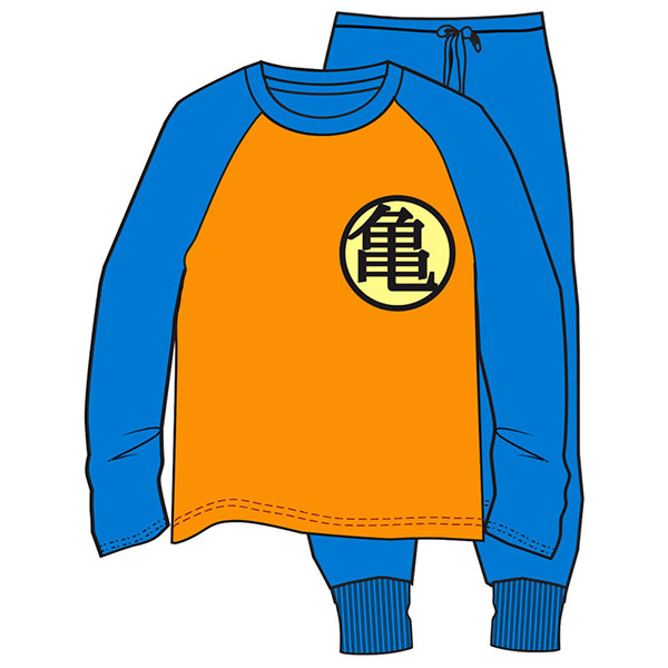 Pijama Adulto Dragon Ball Naranja/Azul