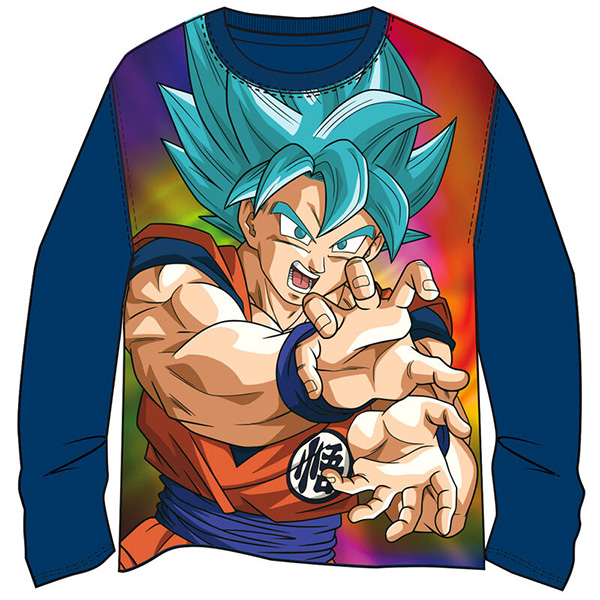 Camiseta Niño Dragon Ball Goku Azul Marino