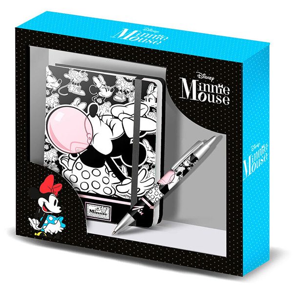 Set Diario + Bolígrafo Minnie Bubble Gum