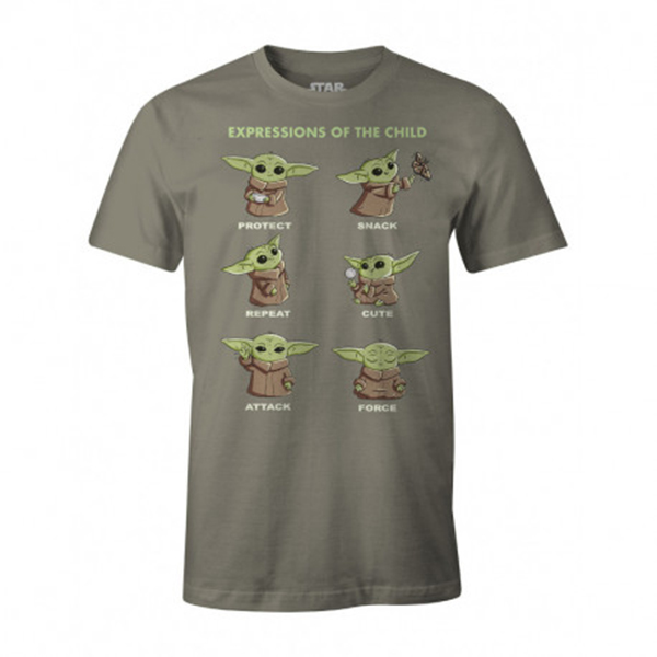 Camiseta The Mandalorian Child Expressions