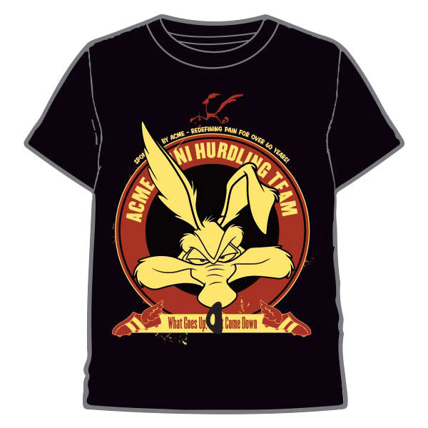 Camiseta Looney Tunes Coyote (Negra)